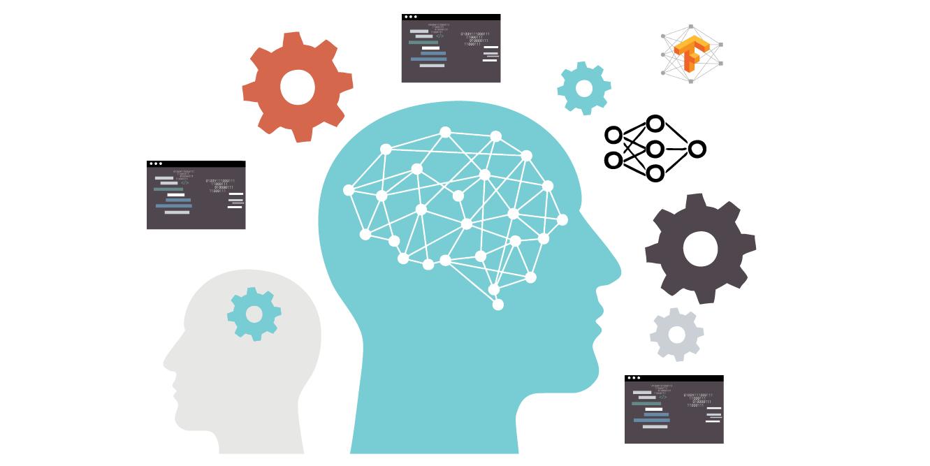 Foto com vetores que representam Machine Learning, tema do codelab lançado pelo Google.